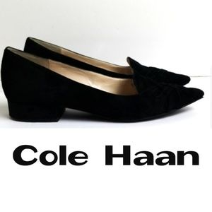 Cole Haan Black Suede Loafers  - Size 9B